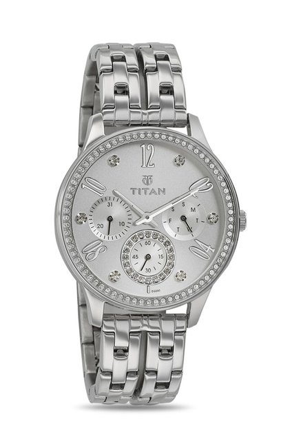 Titan 95040SM01J Analog Watch for Women