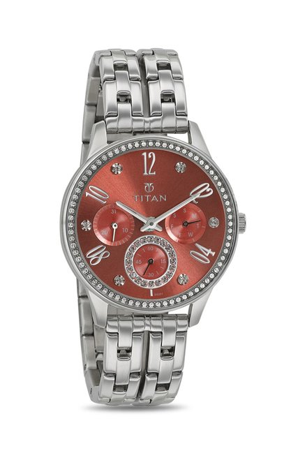 Titan 95040SM02J Analog Watch for Women