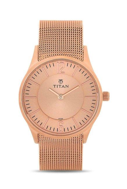 Titan 95035WM01J Work Wear Analog Watch for Women