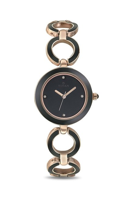 Titan 95036WM01J Enamel Analog Watch for Women
