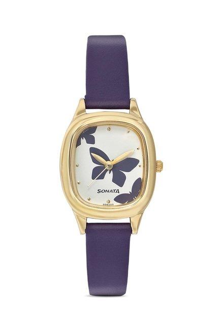Sonata 8060YL01 Analog Watch for Women