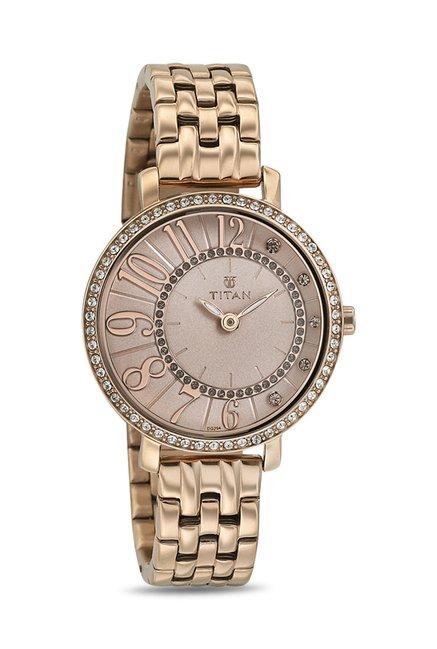 Titan 95041WM01J Analog Watch for Women