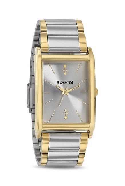 Sonata 77002BM01 Imperial Analog Watch for Men