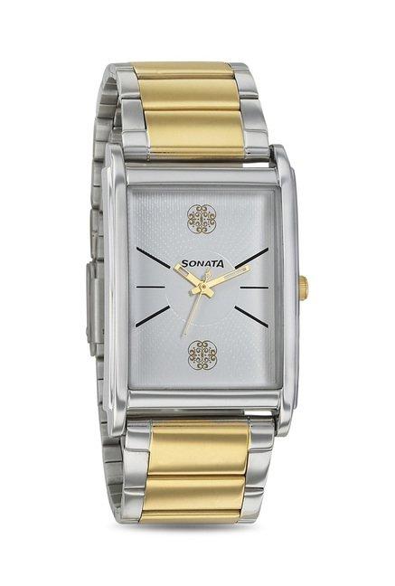Sonata 77002BM02 Imperial Analog Watch for Men