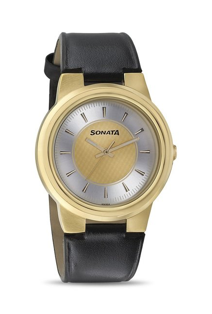 Sonata 7121YL01 Elite II Analog Watch for Men