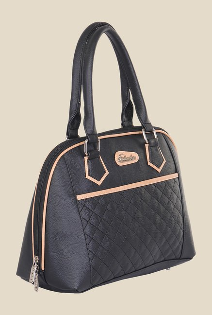 Esbeda Black Synthetic Textured Handbag
