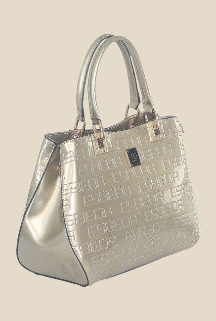 Esbeda Golden Synthetic Textured Handbag