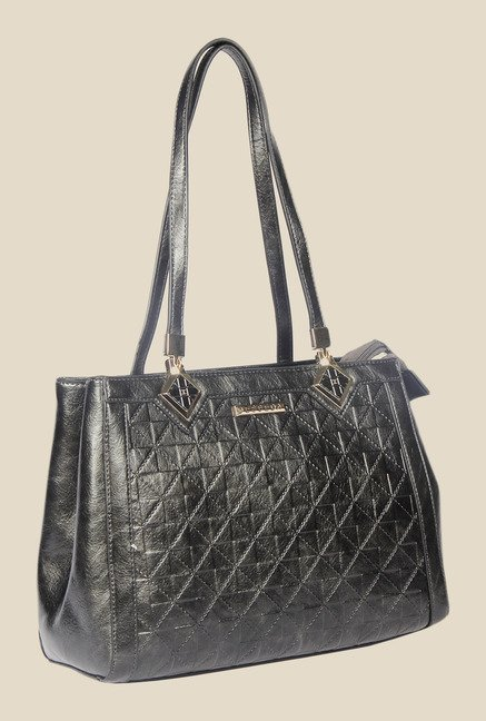 8ca868a632 Buy Esbeda Black Synthetic Textured Shoulder Bag For Women Online At Tata  CLiQ