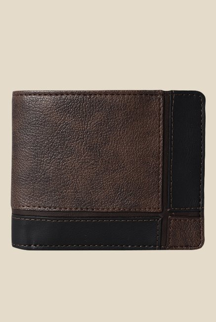 Baggit Monolithic Times Brown Synthetic Wallet