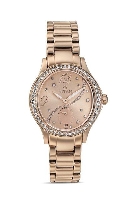 Titan 95024WM01J Analog Watch for Women
