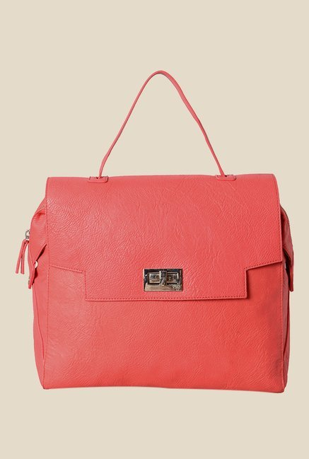 Baggit Semine Denon Pink Synthetic Handbag