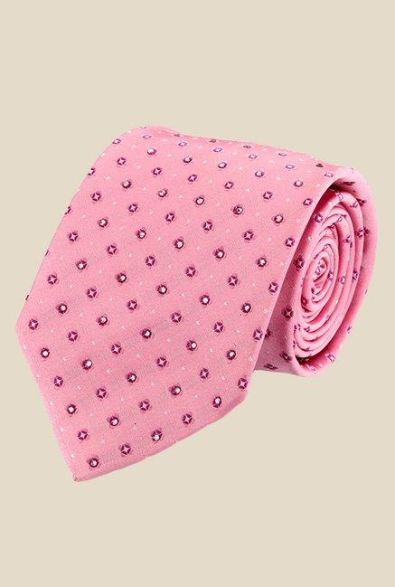 Satya Paul Pink Printed Tie