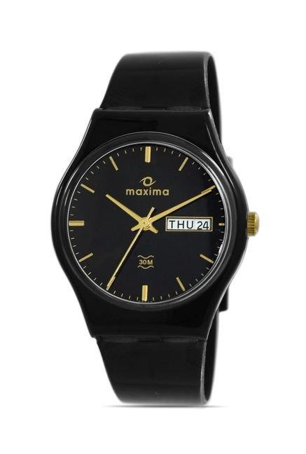 Maxima 02244PPGW Aqua Regular Analog Black Dial Men's Watch (02244PPGW)