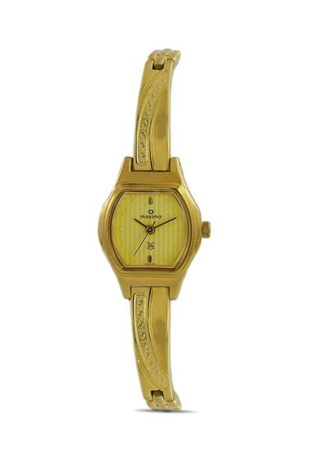 Maxima 09432BPLY Formal Gold Analog Watch for Women