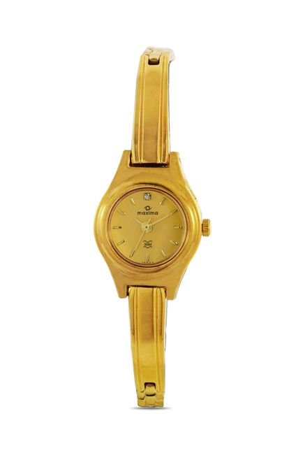 Maxima 15544BPLY Formal Gold Analog Watch for Women