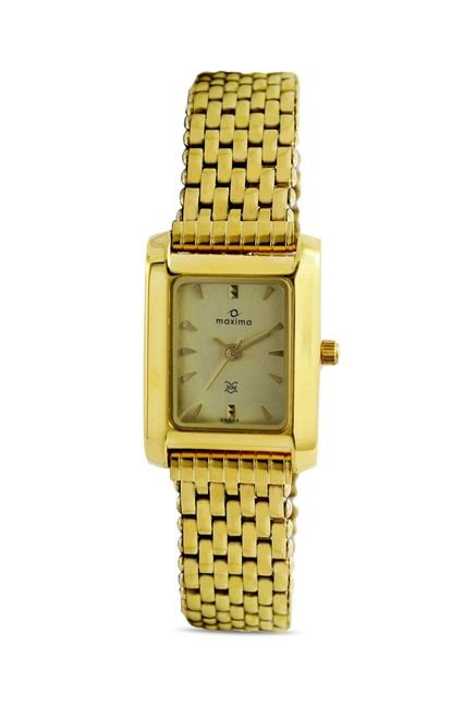 Maxima 29002CMLY Formal Gold Analog Watch for Women