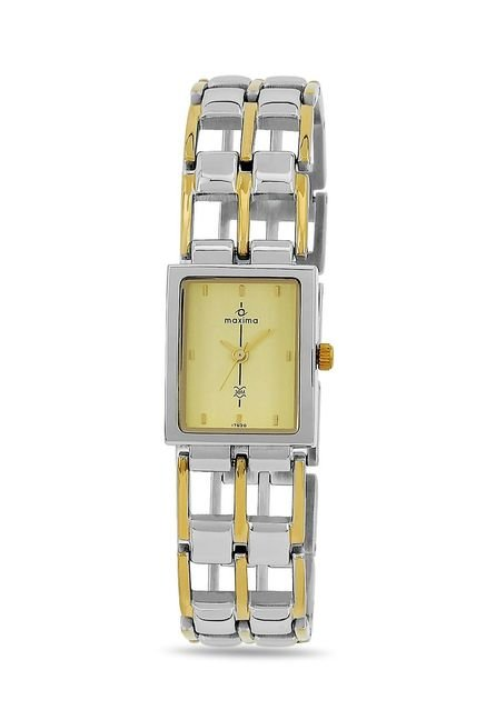 Maxima 17620BMLT Formal Gold Analog Watch for Women