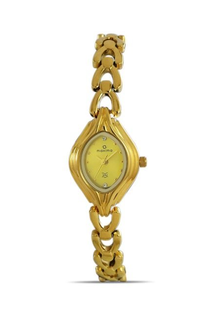 Maxima 04886BMLY Formal Gold Analog Watch for Women