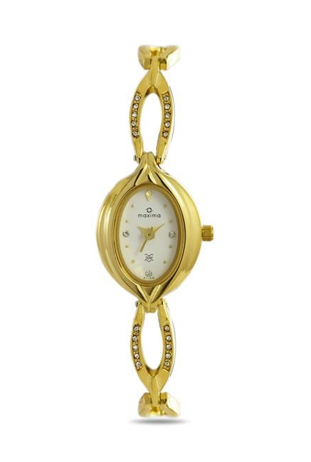 Maxima 21106BMLY Formal Gold Analog Watch for Women