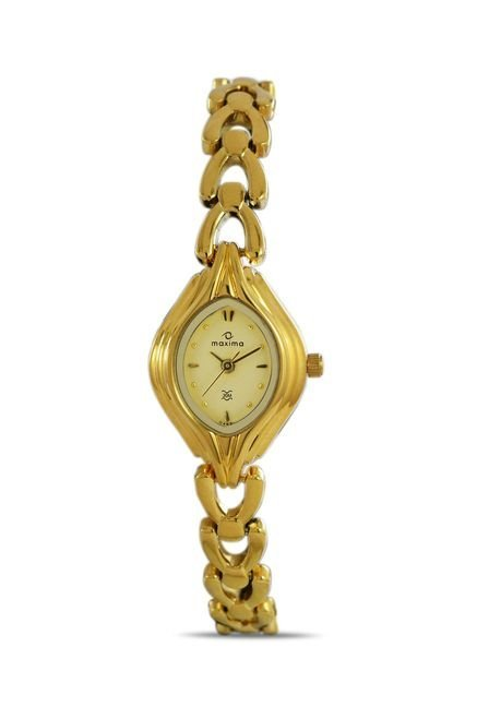 Maxima 04881BMLY Formal Gold Analog Watch for Women