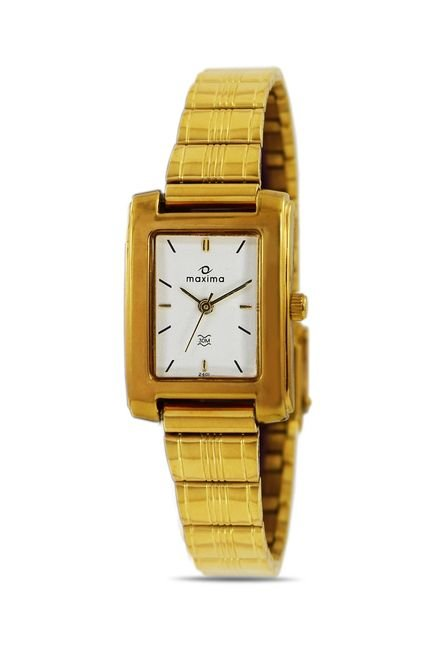 Maxima 02401CPLY Formal Gold Analog Watch for Women