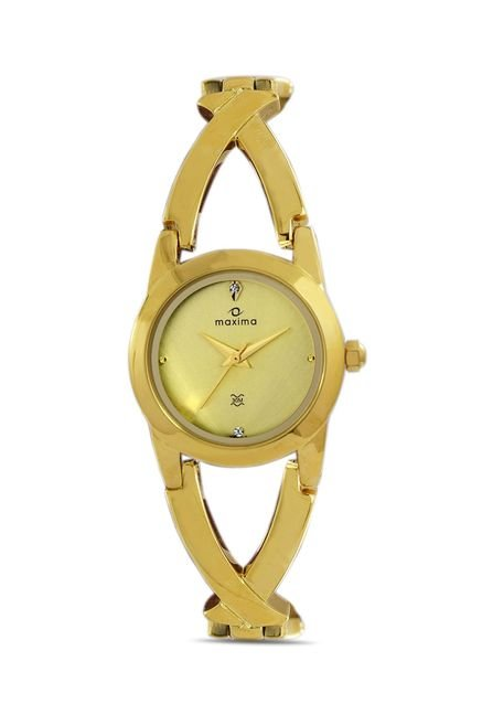 Maxima 28203BMLY Formal Gold Analog Watch for Women