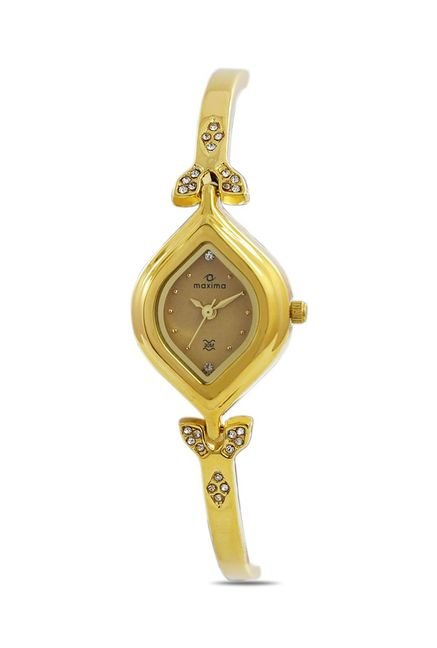 Maxima 22380BMLY Formal Gold Analog Watch for Women
