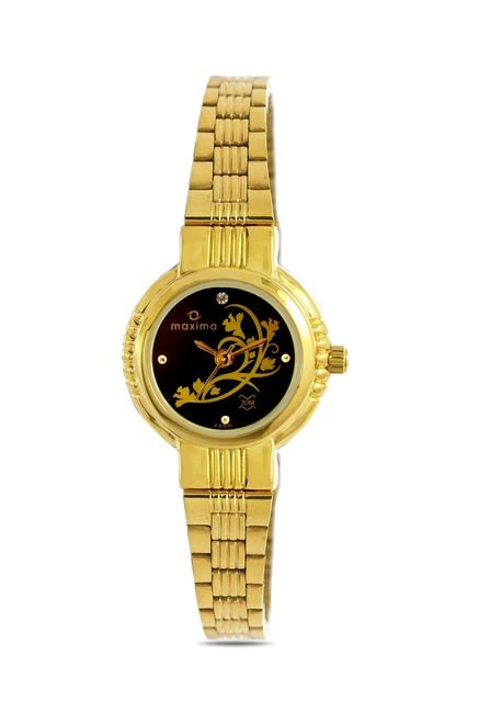 Maxima 22021CMLY Formal Gold Analog Watch for Women
