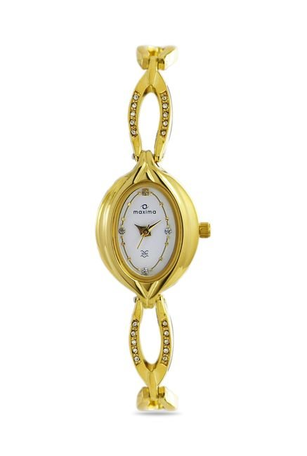 Maxima 21101BMLY Formal Gold Analog Watch for Women