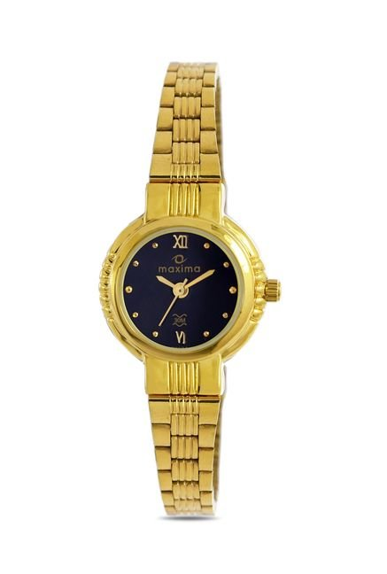 Maxima 22024CMLY Formal Gold Analog Watch for Women