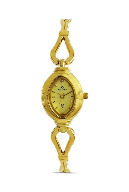 Maxima 07174BMLY Formal Gold Analog Watch for Women