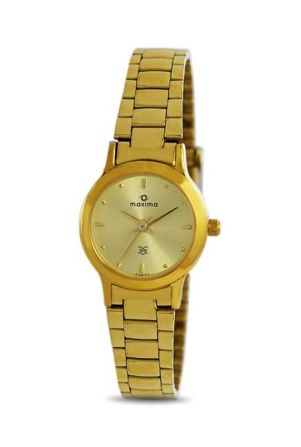 Maxima 04623CMLY Formal Gold Analog Watch for Women