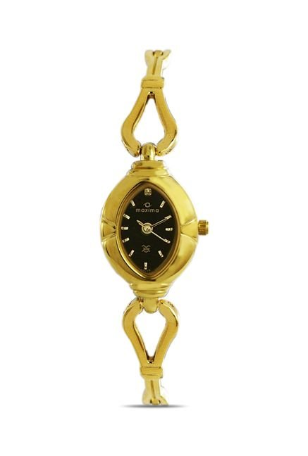 Maxima 07175BMLY Formal Gold Analog Watch for Women