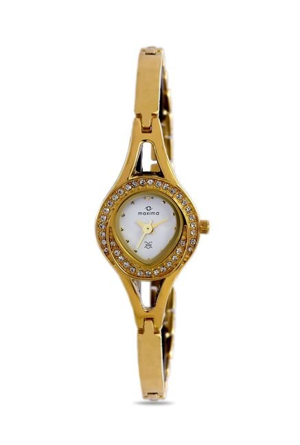 Maxima 24386BMLY Formal Gold Analog Watch for Women