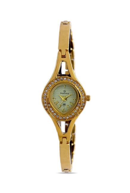 Maxima 24382BMLY Formal Gold Analog Watch for Women