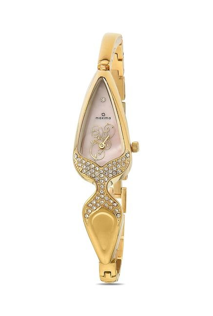 Maxima 21983BMLY Formal Gold Analog Watch for Women