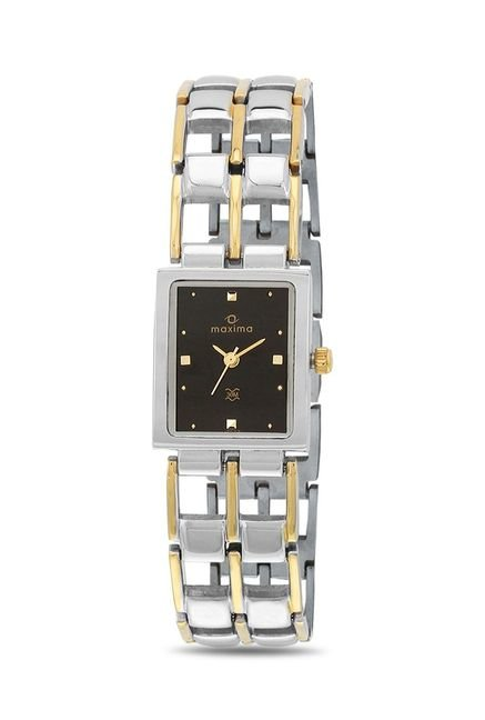 Maxima 17623BMLT Formal Gold Analog Watch for Women