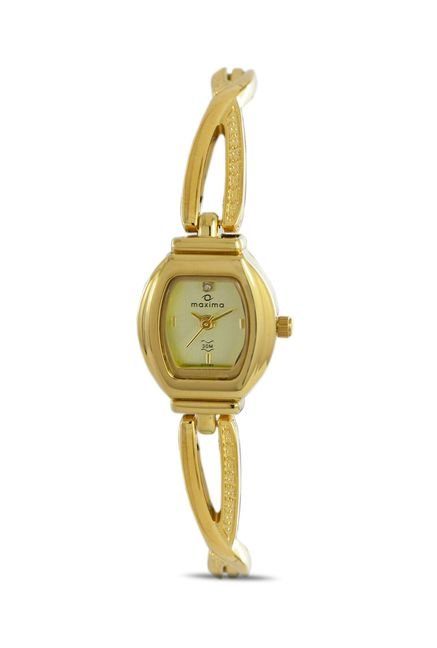 Maxima 07191BMLY Formal Gold Analog Watch for Women