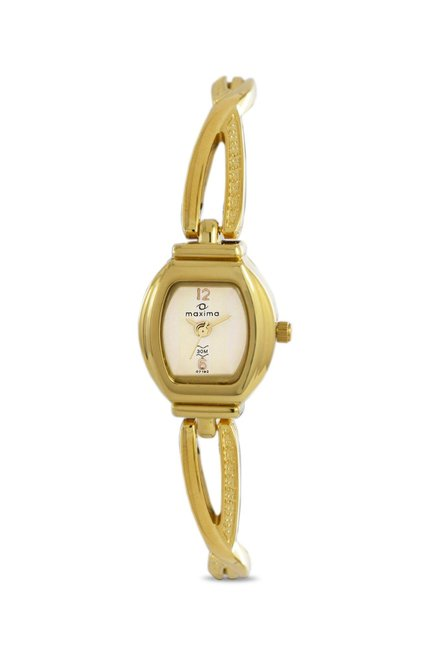 Maxima 07192BMLY Formal Gold Analog Watch for Women