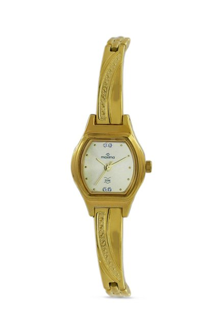 Maxima 09433BPLY Formal Gold Analog Watch for Women
