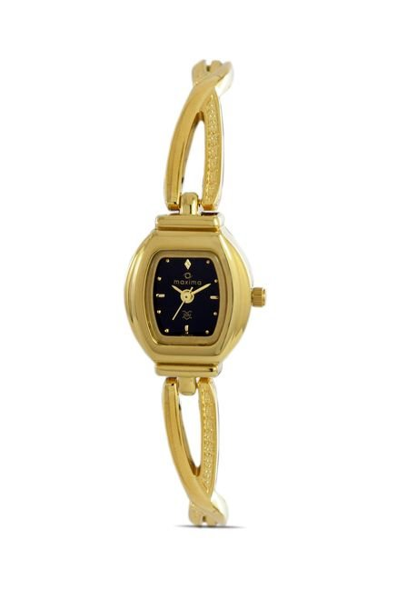 Maxima 07195BMLY Formal Gold Analog Watch for Women