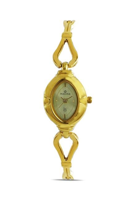Maxima 07171BMLY Formal Gold Analog Watch for Women