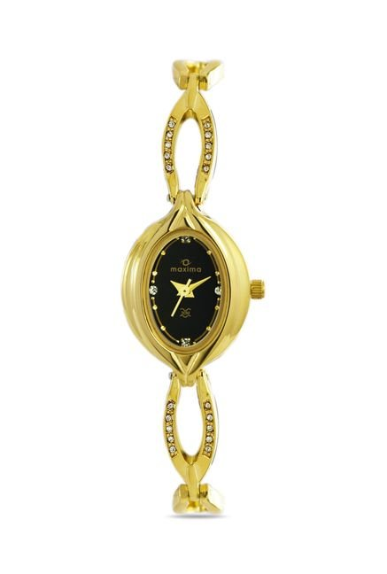 Maxima 21104BMLY Formal Gold Analog Watch for Women