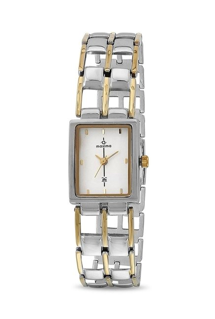 Maxima 17621BMLT Formal Gold Analog Watch for Women