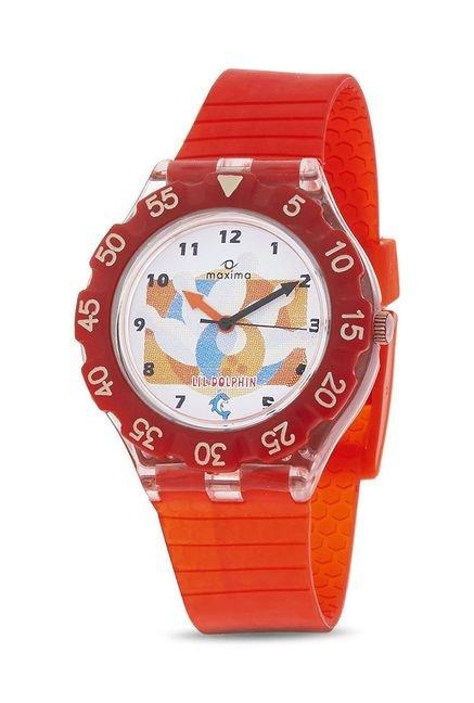 Maxima 04474PPKW Analog White Dial Children's Watch (04474PPKW)