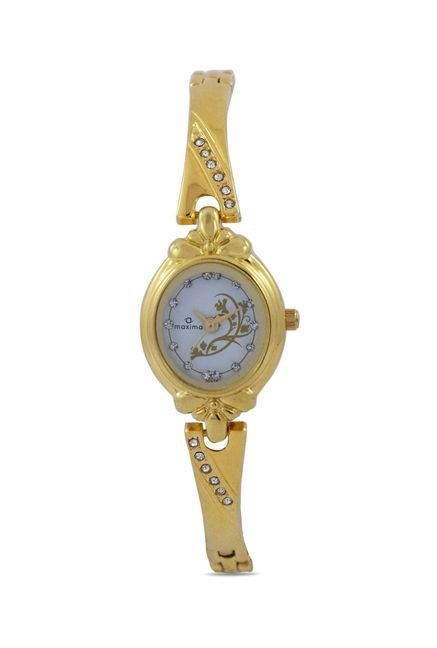 Maxima 29374BMLY Formal Gold Analog Watch for Women