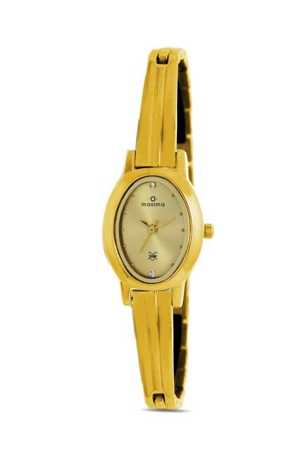 Maxima 39912BMLY Formal Gold Analog Watch for Women