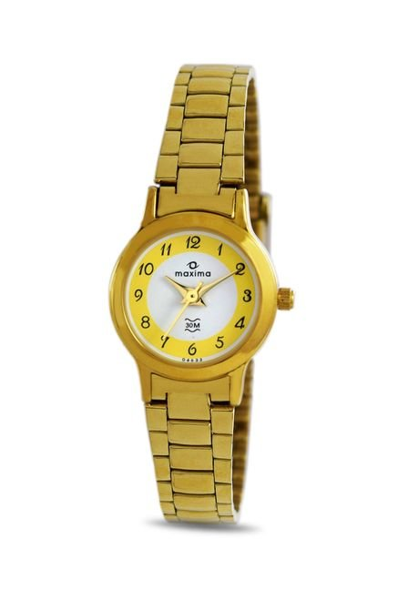 Maxima 04633CMLY Formal Gold Analog Watch for Women