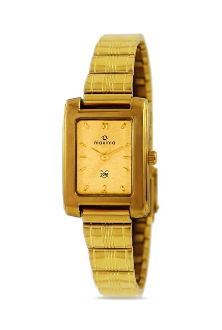 Maxima 02411CPLY Formal Gold Analog Watch for Women