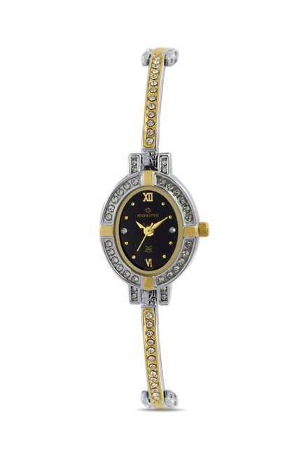 Maxima 24010BMLT Formal Gold Analog Watch for Women